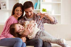 healthy family after a professional carpet cleaning service