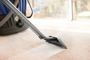 Carpet being cleaned with carpet cleaning service to prevent allergies