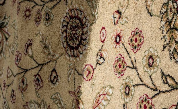 An area rug that received professional carpet cleaning
